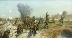 Battle-of-the-Somme-1916-CANVAS-WALL-ART-PICTURE-16X30-INCHES