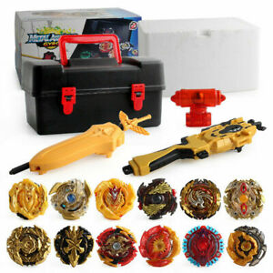 12PCS Beyblade Burst Set Spinning with Grip Launcher+Portable Storage Box Case