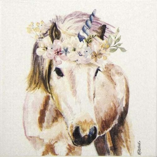 4x Paper Napkin for decopage craft Jennifer Redstreake Pretty Unicorn