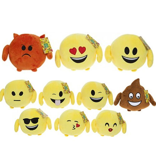 18CM PLUSH EMOJI EMOTION BALLS FUNNY GIFT THROW CUTE FACES ICON KIDS PRESENT NEW