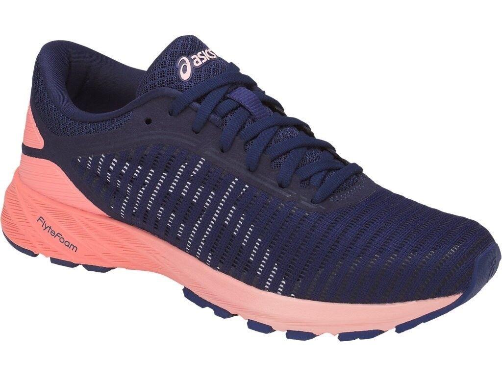 Women's Asics DynaFlyte 2 Running Shoes - Indigo Blue/White/Pink - NIB! Seasonal price cuts, discount benefits