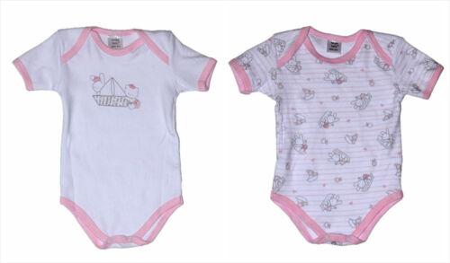 Baby Body Kurzarm Bodys 2-er Set mit Motiv  Hellblau /& Rosa