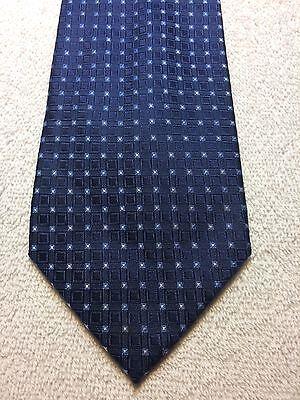 Bello Usa Polo Association Cravatta Uomo 3,5 X 60 Blu Navy Con Luce Blu, Profitto Piccolo