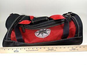 Men-039-s-Heavy-Duty-LARGE-Black-amp-Red-Heavy-Twill-Duffel-Bag-Travel-Luggage-21-034