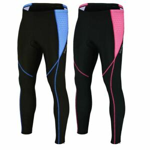 Ladies Cycling Tights 3D GEL Padded Compression Leggings Womens Tights Trousers
