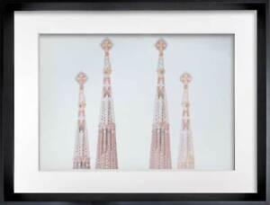 """Antoni GAUDI lithograph LIMITED Ed. """"La Sagrada Familia.."""" w/Frame Included"""
