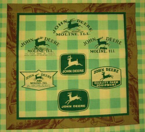 *Choose design* John Deere tractors craft panel cotton quilting fabric