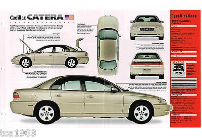 Automobilia Frank 1996/1997/1998 Cadillac Catera Spezial Folie/broschüre/flieger Durchblutung GläTten Und Schmerzen Stoppen