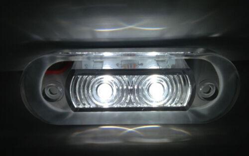 # MARINE BOAT FLUSH MOUNT LED COOL WHITE OBLONG  COURTESY LIGHT IP67 WATERPROOF