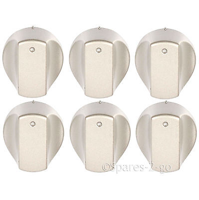 Black Oven Knob for HOTPOINT Hob Flame Burner Hotplate Control Switch Knobs x 6