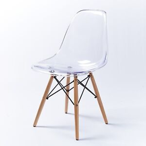 Image Is Loading Designer Style Ghost Eiffel Chair Clear Transparent Retro