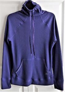 Ladies-Under-Amour-Pullover-Cold-Gear-Semi-Fitted-Thumb-Holes-Purple-Size-Medium