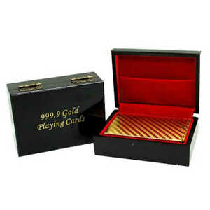 UK-SELLER-GOLD-FOIL-COLOUR-PLAYING-CARD-WITH-BOX-DECK-CASINO-POKER-BRIDGE-CARDS
