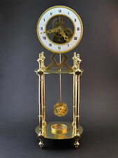 C1800 SMALL EMPIRE PERIOD ANTIQUE FRENCH BRASS SKELETON CLOCK EIGHT DAY MOVEMENT