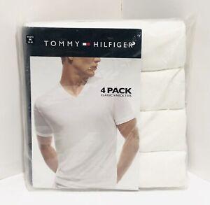 V Neck 4 Pack Mens Kirkland Signature VNeck White Tshirts Size Small