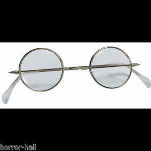 50f843e6da5 Cosplay Steampunk ROUND EYE GLASSES Wire Frame Granny Hippie Costume ...