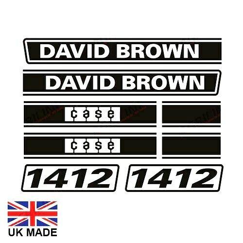 Aufkleber Set Passend Für David Brown 1412 Traktore