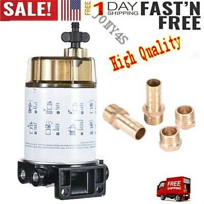 "3//8/"" NPT Fuel Filter Water Separator System S3213 for Marine outboard Motor"