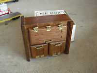Vintage Chadwick Miller Dollhouse Wood Ice Box Furniture In Box