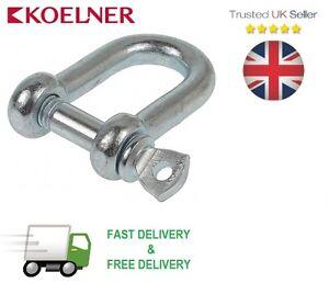 25mm Galvanised Steel Bow Shackle Free Postage /& Packaging! Fasteners