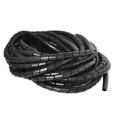 4-30mm Durable Black Wire Spiral Wrap Sleeving Band Tube Cable Protector Eyeful