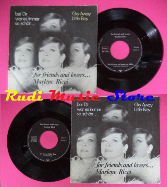 LP 45 7'' Para Amigos And Amantes de La Marlene Ricci Bei Dir War Es No CD Mc