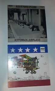 Jefferson-Airplane-x2-Bless-it-039-s-Pointed-Bathing-at-Baxters-Vinyl-Record-LP-039-s