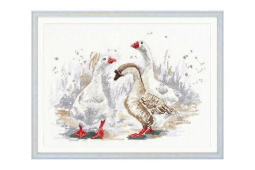 Three Merry Geese Oven Counted Cross Stitch Kit