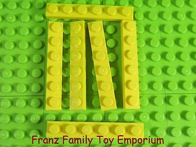 100/% LEGO 20 1x6 Plates Black Blue Bluish Gray Green Red Yellow Dark Tan 3666