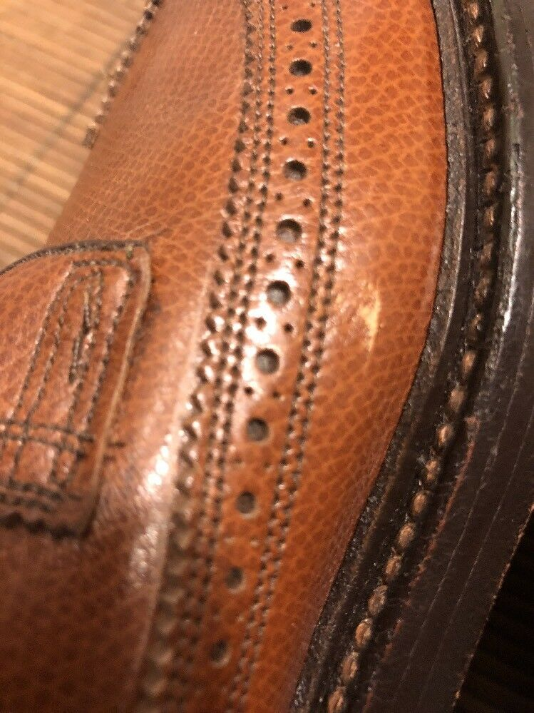 Florsheim Imperial Size 9.5 B B B Brown Pelle 5 Nail V Cleat Wing Tip Dress Shoes 8ae2b3