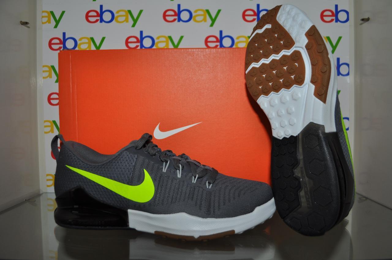Nike Zoom Train Action Mens Cross Trainer Shoes 852438 007 Gray/Volt/Black NIB