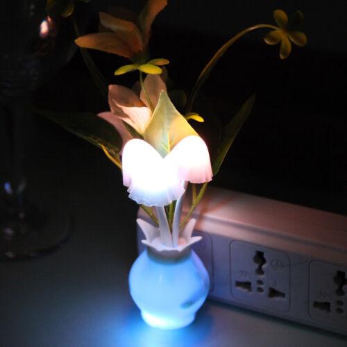 Romantic Mushroom Light Sense Control Led Night Wall Lamp Creative Lovely Decor