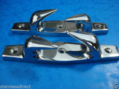 """Chandlery STAINLESS STEEL 316 6/"""" FAIRLEADS IN PAIRS"""