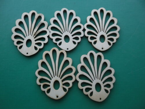 MIXED WOODCRAFT SHAPES INSTRUMENTS BEADS  BUTTONS BUTTERFLY FLOWERS MULTI USES