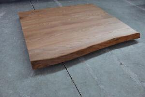 Tischplatte Platte Ulme Ruster Massiv Holz Mit Baumkante Tisch