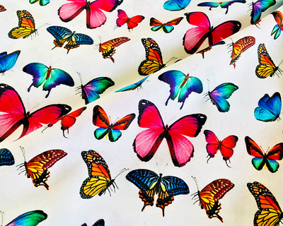 100/% Printed Cotton Digital Fabric Animals Insect Dragonfly 150 cms Wide