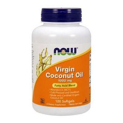VIRGIN COCONUT OIL, 1000mg x 120Sgels, NOW Foods, 24Hr Dispatch