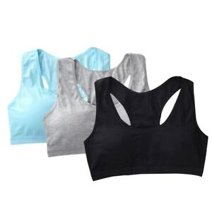 e29599a38768e Girls Kids Bra Pure Young Teenager Underwear Sports Cotton Students ...