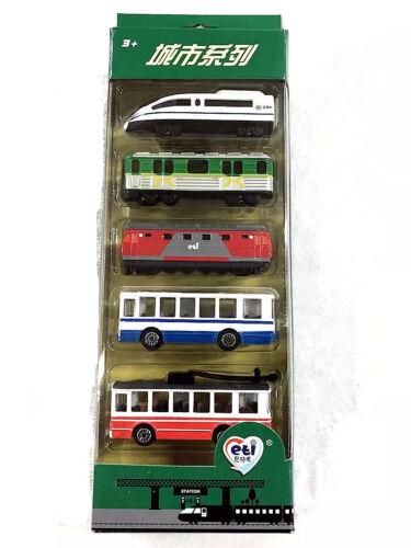 1:60/3 inches Russian/USSR/Soviet Vehicles Inter-City Set Velaro+Train+Metro+Bus
