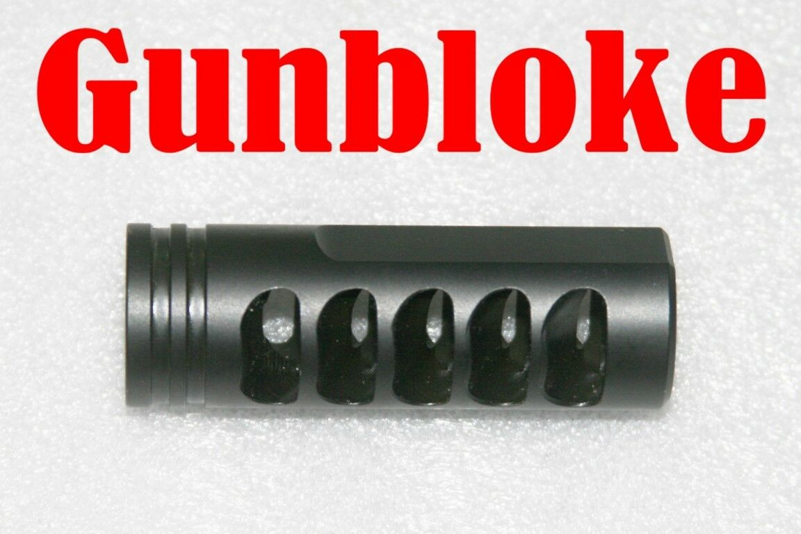 MUZZLE BRAKE  5/8x18 REVERSE VENTING THE DOMINATOR (UK  Thread)  (UK - boROT to suit. 56ca49