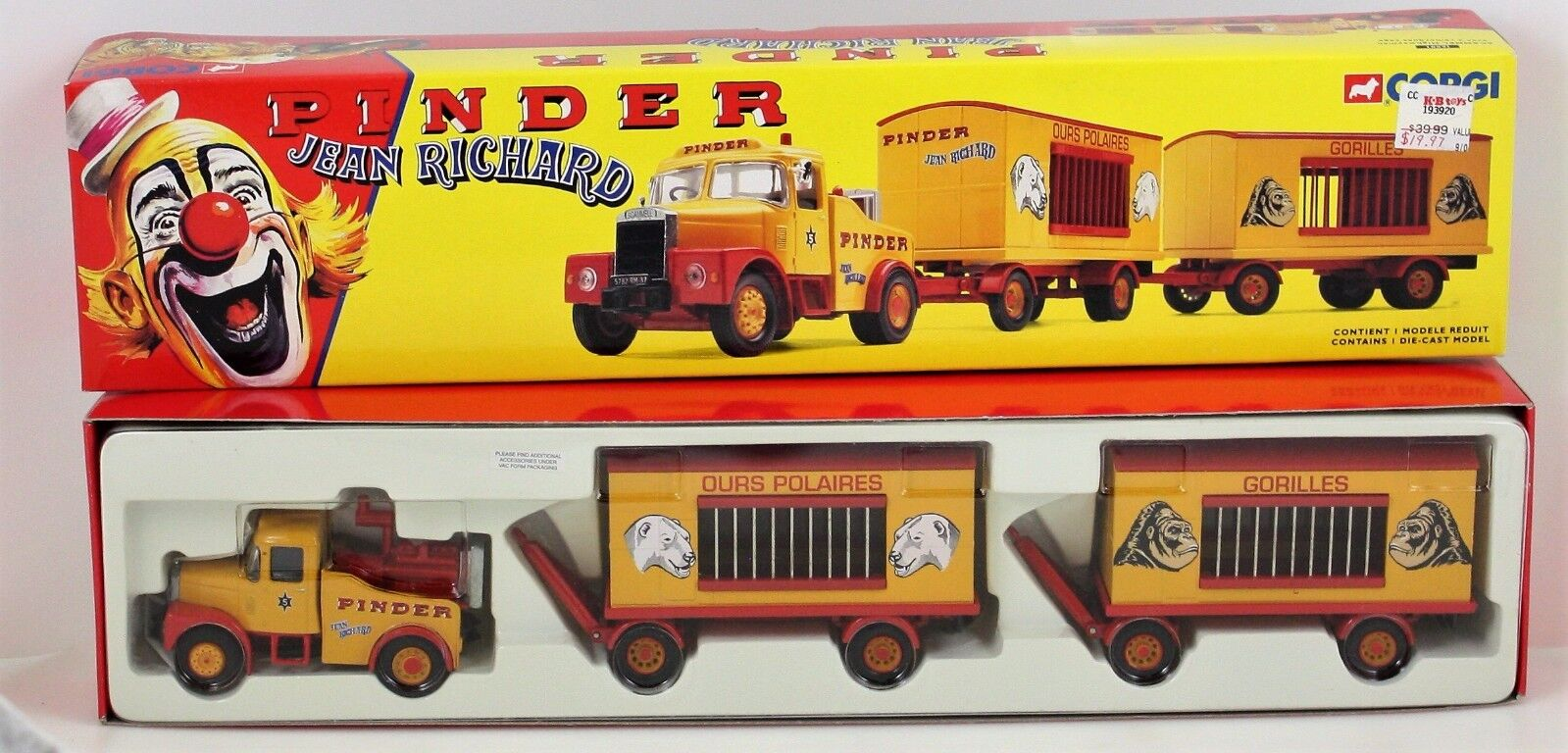 Corgi-PINDERS CIRCUS-1997 SCAMMEL HIGHWAYMAN WITH TWO CAGE TRAILERS TRAILERS TRAILERS dc7531
