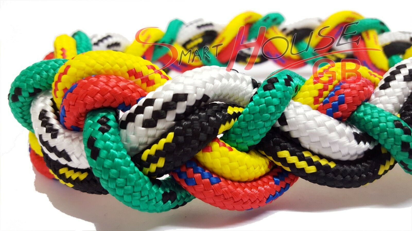 12mm Strong Braided Polypropylene Plaited Poly Rope Cord Yacht Boat Sailing Camp