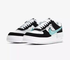 Nike-Air-Force-1-Shadow-White-Aurora-Green-Black-UK-7-EU41-Brand-New-In-Box