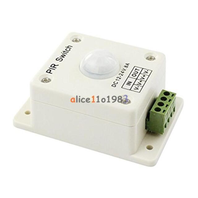 PIR Switch 8A PIR Motion Sensor DC 12-24V For LED Strip Light Bulb Infrared