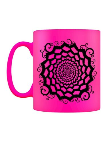 Neon Mug for Tea or Coffee Mandala Motif Pink