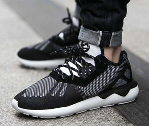 on sale b1978 4c042 Image is loading S74813-Men-039-s-Adidas-TUBULAR-RUNNER-WEAVE-