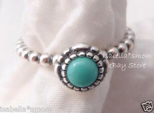 7fa759acf Image is loading DECEMBER-BIRTHDAY-BLOOMS-Authentic-PANDORA-Silver-TURQUOISE -Stone-
