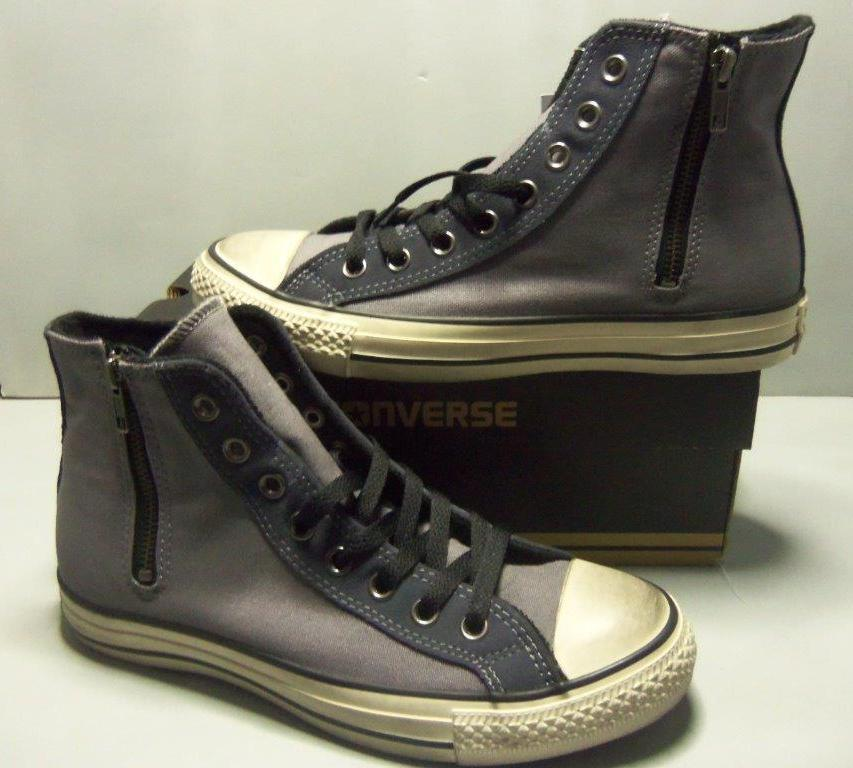 Converse hommes Chuck Taylor CT Side Zip Hi gris Canvas Chaussures SIZES NIB 141237