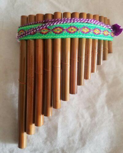 Kinder Instrumente Set Indianer Panflöte Pfeife Trommel Peru Traditionell Neu