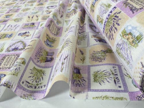 Lavande Française Imprimé Tissu Coton Violet Fleur Rideaux Tapisserie 140cm Wide